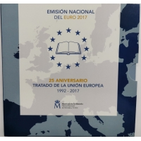 SPAIN 2017 - EURO COIN SET BU - 25th Anniversary of the EU Treaty