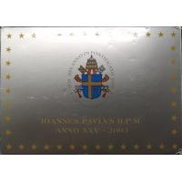 VATICAN 2003 - EURO COINS SET - PROOF