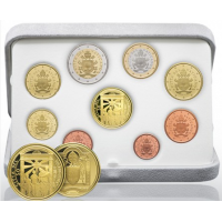 VATICAN 2020 - EURO COINS SET + AU - PROOF