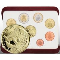 VATICAN 2021 - EURO COINS SET + AU - PROOF