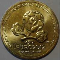 UKRAINA 2012  1 HRYVNIAS - EURO 2012