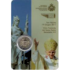 SAN NMARINO 2 EURO 2011 – GOVERNMENT HOUSE  - COIN CARD