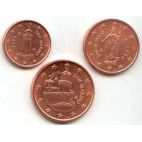 SAN MARINO 2006 - EURO SET 1,2,5 CENT