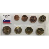 SLOVENIA 2007 - EURO COIN SET (UNC)