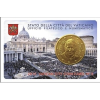 """VATICAN 2015 – 50 CENT COINCARD № 6 """"HOLY FATHER"""""""