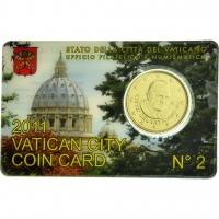VATICAN 2011 – 50 CENT COINCARD № 2