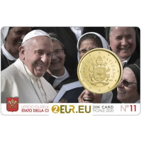 VATICAN 2020 - 50 CENT COINCARD № 11