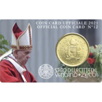 VATICAN 2021 - 50 CENT COINCARD № 12