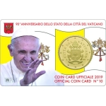 VATICAN  50 CENT - COIN CARD
