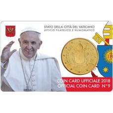 VATICAN 2018 - 50 CENT COINCARD № 9