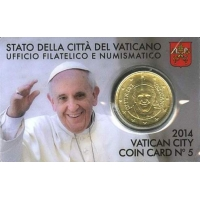 VATICAN 2014 – 50 CENT COINCARD № 5