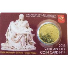 VATICAN 2013 - 50 CENT COINCARD № 4