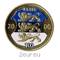 ESTONIA 1 KROON 2000 - COLORED COIN