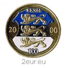 ESTONIA 1 KROON 2000 - COLORED COIN