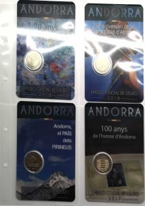 SHEET FOR 2 EURO COINS - ANDORRA AND SAN MARINO