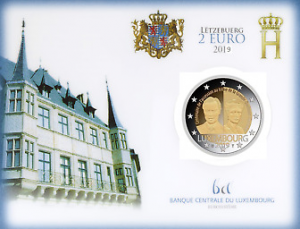 LUXEMBOURG 2 EURO 2019 - 100th ANNIVERSARY OF THE GRAND DUCHESS CHARLOTTE´S ACCESSION TO THE THRONE