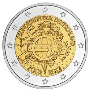 GERMANY 2 EURO 2012 - 10 YEARS OF EURO - A - BERLIN
