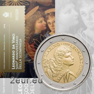 SAN MARINO 2 EURO 2019 - 500 TH ANNIVERSARY OF THE DEATH OF LEONARDO DA VINCI