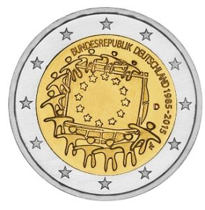 GERMANY 2 EURO 2015 - 30 YEARS OF THE EU FLAG - D - MUNICH