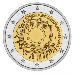 GERMANY 2 EURO 2015 - 30 YEARS OF THE EU FLAG - J - HAMBURG