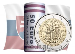 SLOVAKIA 2 EURO 2013 - SAINTS CYRIL AND METHODIUS -ROLL