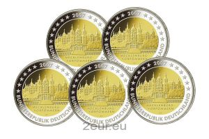GERMANY 2 EURO 2007 - SCHWERIN CASTLE (FULL SET)