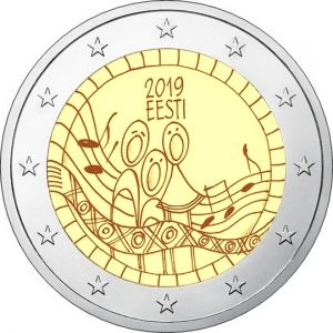 ESTONIA 2 EURO 2019 - 150TH ANNIVERSARY OF THE FIRST SONG FESTIVAL