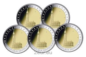 GERMANY 2 EURO 2008 - HAMBURG (FULL SET)