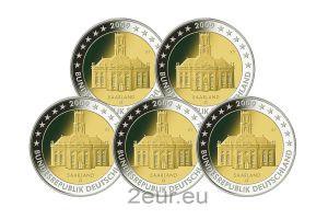 GERMANY 2 EURO 2009 - SAARLAND (FULL SET)