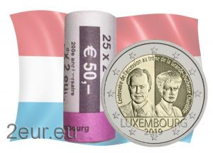 LUXEMBOURG 2 EURO 2019 - 100TH ANNIVERSARY OF THE ARRIVAL ON THE THRONE AND MARRIAGE OF GRAND DUCHESS CHARLOTTE
