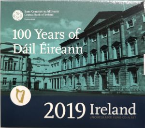 IRELAND 2019 - EURO COIN SET BU - 100TH YEARS  OF DAILI EIREANN