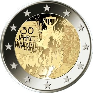 GERMANY 2 EURO 2019/2 - 30TH ANNIVERSARY OF THE FALL OF THE BERLIN WALL - G
