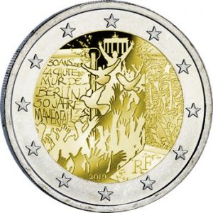 FRANCE 2 EURO 2019 - 30TH ANNIVERSARY OF THE FALL OF THE BERLIN WALL