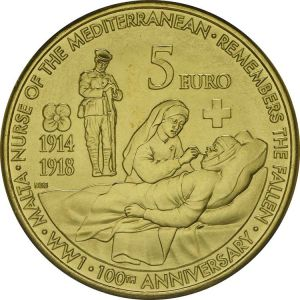 МАЛЬТА 5 EURO 2014 - WORLD WAR I  (UNC)