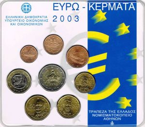 GREECE 2003 - EURO COIN SET BU