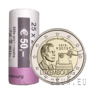 LUXEMBOURG 2 EURO 2019-2 - 100TH ANNIVERSARY OF UNIVERSAL SUFFRAGE roll