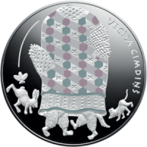 LATVIA 5 EURO 2017 - THE OLD MAN'S MITTEN (FAIRY TALE COIN III)