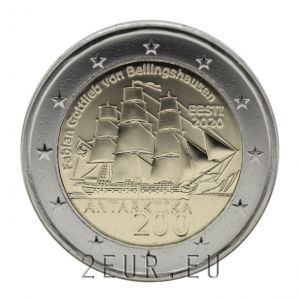 ESTONIA 2 EURO 2020 - 200 YEARS SINCE THE DISCOVERY OF ANTARCTICA