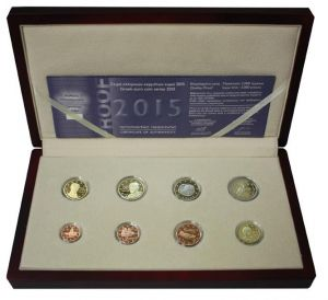 GREECE 2015 - EURO COIN SET - PROOF