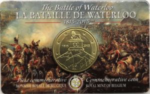 BELGIUM 2.5 EURO 2015 - 200 YEARS OF BATTLE AT WATERLOO
