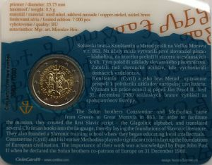 SLOVAKIA 2 EURO 2013 - SAINTS CYRIL AND METHODIUS -C/C