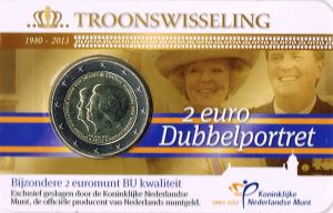 NETHERLANDS 2 EURO 2013 - DOUBLE PORTRAIT -C/C
