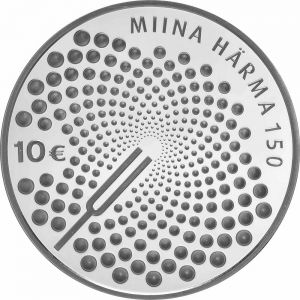 ESTONIA  2014 - 10 EURO - 150TH ANNIVERSARY OF THE BIRTH OF MIINA HÄRMA