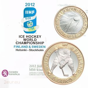 FINLAND 5 EURO 2012 - ICE HOCKEY WORLD CHAMPIONSHIP - PROOF