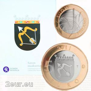 FINLAND 5 EURO 2011 - HISTORICAL PROVINCES - SAVONIA - PROOF