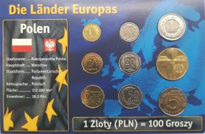 POLAND 2009 -2015 - EURO COIN SET MIX