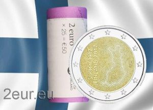 FINLAND 2 EURO 2017 - 100 YEARS OF INDEPENDENCE roll