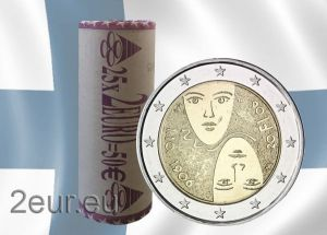 FINLAND 2 EURO 2006 - 100 YEARS OF UNIVERSAL AND EQUAL SUFFRAGE roll