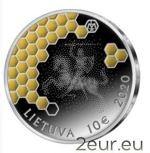LITHUANIA 10 EURO 2020 - BEEKEEPING - SILVER