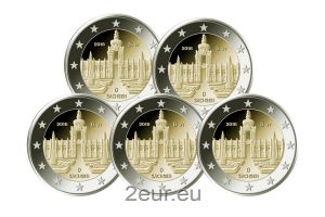 GERMANY 2 EURO 2016 - DRESDNER ZWINGER (FULL SET)